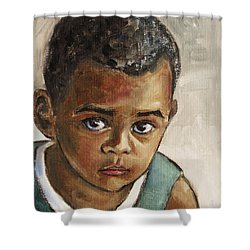 Curious Little Boy Shower Curtain