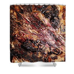 Shower Curtain featuring the painting Curl Up And Dye by Lucy Matta