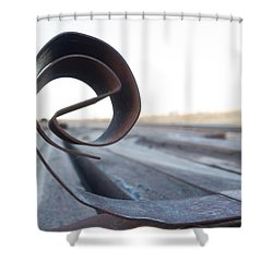 Curled Steel Shower Curtain by Fran Riley