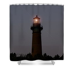 Shower Curtain featuring the photograph Currituck Lighthouse by Greg Reed