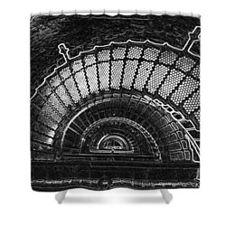 Currituck Lighthouse Stairs Shower Curtain