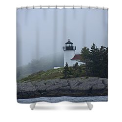 Curtis Island Lighthouse Shower Curtain by Daniel Hebard