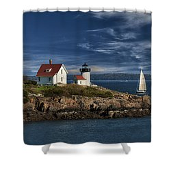 Curtis Island Lighthouse Maine Img 5988 Shower Curtain