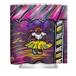 Curtsy Doll Rain Shower Curtain