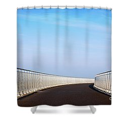 Curved Bridge Shower Curtain