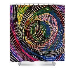 Curved Lines 6 Shower Curtain by Sarah Loft