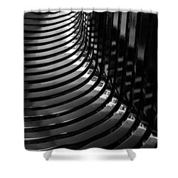 Curved Shower Curtain by Wendy Wilton