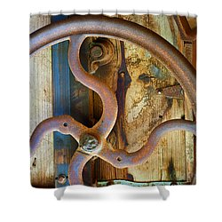 Curves And Lines Shower Curtain by Stephen Anderson