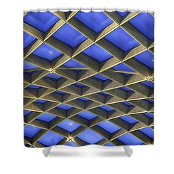 Curvilinear Skylight Structure  Shower Curtain by Lynn Palmer