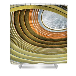 Curving Ceiling Shower Curtain