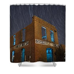 Cushing Auto Service Shower Curtain by Keith Kapple