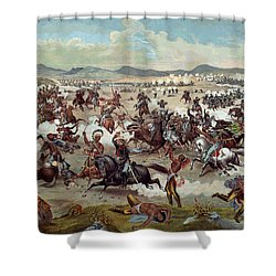 Custer's Last Charge Shower Curtain by Unknown