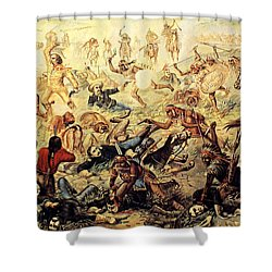Custer's Last Fight Detail Shower Curtain by Unknown