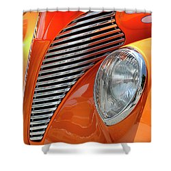Shower Curtain featuring the photograph Custom Car Detail by Dave Mills