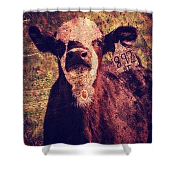 Cute Calf Grunge Shower Curtain by Cassie Peters