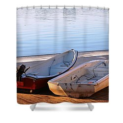 Cute Couple Shower Curtain by Mike Ste Marie