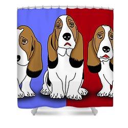 Cute Dogs 2 Shower Curtain by Mark Ashkenazi