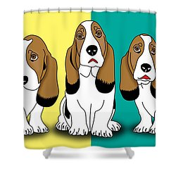 Cute Dogs  Shower Curtain by Mark Ashkenazi
