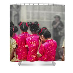 Cute Girls Shower Curtain