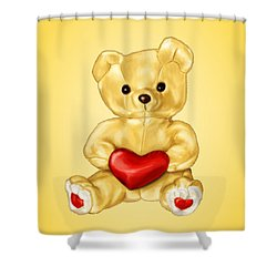 Cute Teddy Bear Hypnotist Shower Curtain