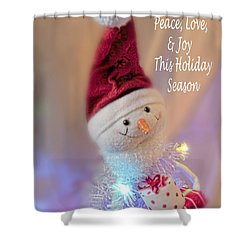 Cutest Snowman Christmas Card Shower Curtain