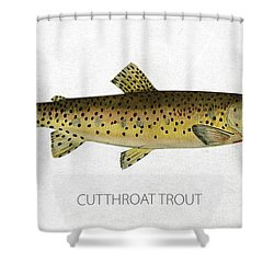 Cutthroat Trout Shower Curtain by Aged Pixel