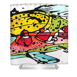 Cutthroat Trout Shower Curtain