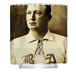 Cy Young Shower Curtain by Benjamin Yeager