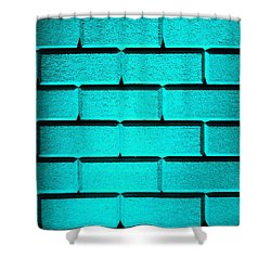 Cyan Wall Shower Curtain by Semmick Photo