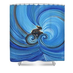 Cycle By Jrr Shower Curtain by First Star Art