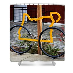 Cycle Oregon Shower Curtain