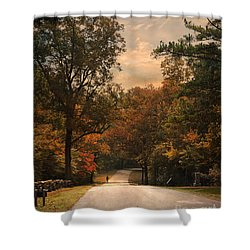 Cycling Season Shower Curtain by Jai Johnson