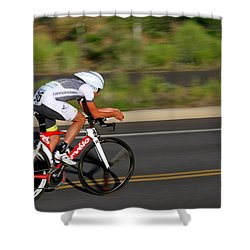 Cycling Time Trial Shower Curtain