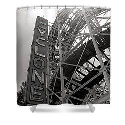 Cyclone Rollercoaster - Coney Island Shower Curtain by Jim Zahniser