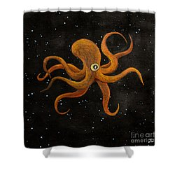 Cycloptopus Black Shower Curtain