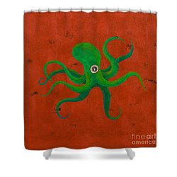 Cycloptopus Red Shower Curtain
