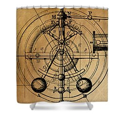 Cyclotron Shower Curtain by James Christopher Hill