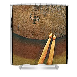 Cymbals And Sticks Shower Curtain