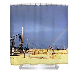 Cymric Field Rainbow Shower Curtain by Lanita Williams