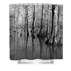 Forgotten - Black And White Art Print Shower Curtain by Jane Eleanor Nicholas