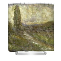 Cypress Landscape Shower Curtain