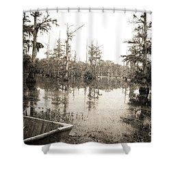 Cypress Swamp Shower Curtain by Scott Pellegrin