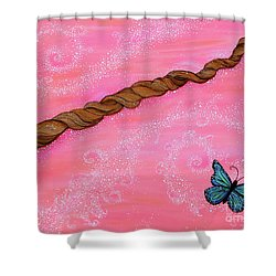 Shower Curtain featuring the painting Cypress Wand by Deborha Kerr
