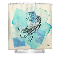 Cyprinus Carpio Shower Curtain
