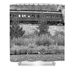 Cyrus K  Holliday Private Rail Car Bw Shower Curtain by James BO  Insogna