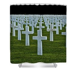 D-day's Price Shower Curtain by Eric Tressler
