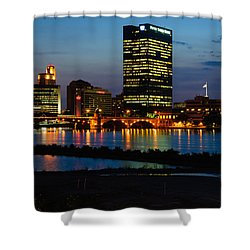 D12u152 Toledo Ohio Skyline Photo Shower Curtain