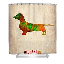 Dachshund Poster 2 Shower Curtain