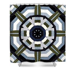 Daddy's Denims Quilt Shower Curtain by Barbara Griffin
