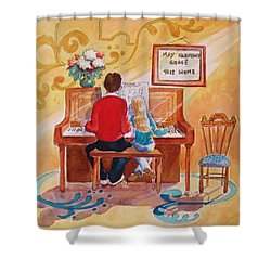 Daddy's Little Girl Shower Curtain by Marilyn Jacobson